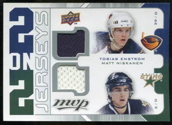 2008/09 Upper Deck MVP Two on Two Jerseys #J2BNLE Tobias Enstrom/Matt Niskanen/Kevin Bieksa/Mike Lundin