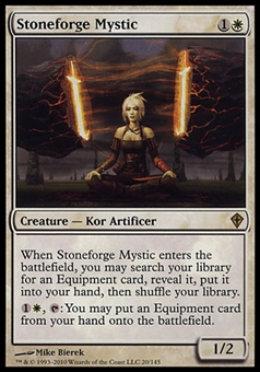 Magic the Gathering Worldwake Single Stoneforge Mystic FOIL - MODERATE PLAY (MP)