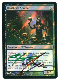 Magic the Gathering Return to Ravnica Single Deathrite Shaman ARTIST SIGNED FOIL - SP