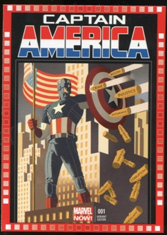 2014 Upper Deck Marvel Now Variant Covers #104HA Captain America #1