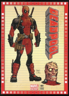 2014 Upper Deck Marvel Now Variant Covers #105TM Deadpool #1