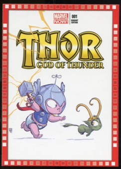 2014 Upper Deck Marvel Now Variant Covers #110SY Thor: God of Thunder #1