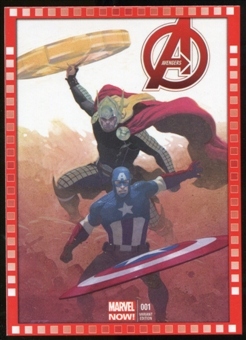 2014 Upper Deck Marvel Now Variant Covers #112ER Avengers #1