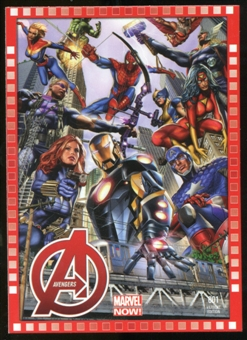 2014 Upper Deck Marvel Now Variant Covers #112HA Avengers #1