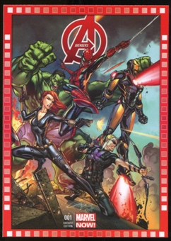 2014 Upper Deck Marvel Now Variant Covers #112SC Avengers #1
