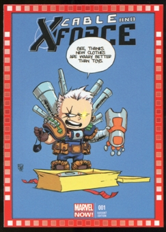 2014 Upper Deck Marvel Now Variant Covers #115SY Cable and XForce