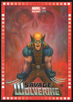 2014 Upper Deck Marvel Now Variant Covers #118FC Savage Wolverine #1