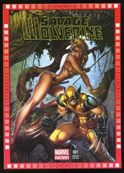 2014 Upper Deck Marvel Now Variant Covers #118MH Savage Wolverine #1