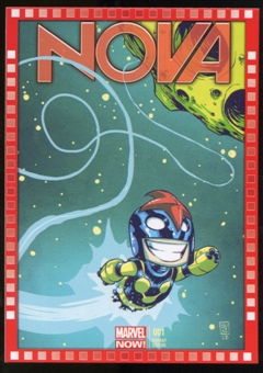 2014 Upper Deck Marvel Now Variant Covers #124SY Nova #1