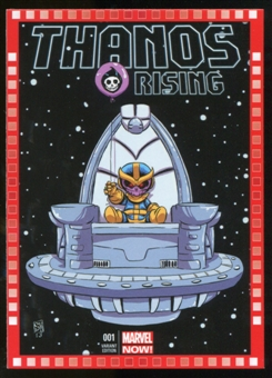2014 Upper Deck Marvel Now Variant Covers #130SY Thanos Rising