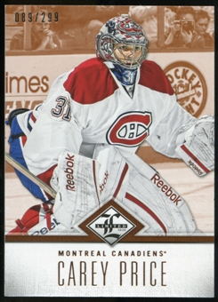 2012/13 Panini Limited #36 Carey Price /299
