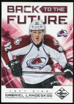 2012/13 Panini Limited Back To The Future #BTFGE Eric Lindros/Gabriel Landeskog /199