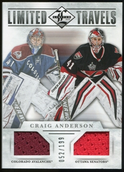 2012/13 Panini Limited Travels Dual Jerseys #TDCA Craig Anderson /199
