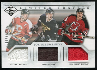 2012/13 Panini Limited Travels Triple Jerseys #TTJN Joe Nieuwendyk /99