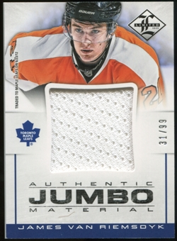 2012/13 Panini Limited Jumbo Materials #JJJV James van Riemsdyk /99