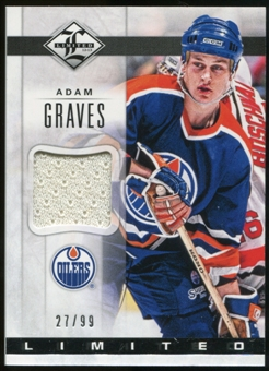2012/13 Panini Limited Materials #LJAG Adam Graves /99