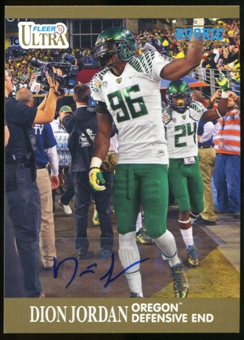 2013 Upper Deck Fleer Retro Ultra Autographs #62 Dion Jordan E Autograph