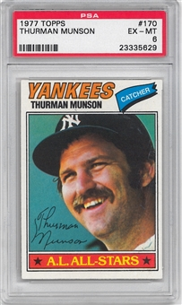1977 Topps Baseball #170 Thurman Munson PSA 6 (EX-MT) *5629