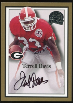 2013 Upper Deck Fleer Retro Fleer Greats of the Game Autographs #TD52 Terrell Davis B Autograph