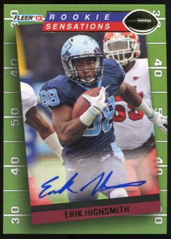 2013 Upper Deck Fleer Retro Fleer Rookie Sensations Autographs #RS31 Erik Highsmith E Autograph