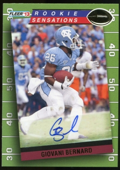 2013 Upper Deck Fleer Retro Fleer Rookie Sensations Autographs #RS99 Giovani Bernard A Autograph