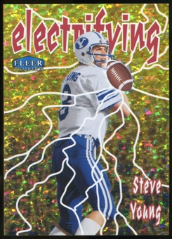 2013 Upper Deck Fleer Retro Fleer Tradition Electrifying #4 Steve Young
