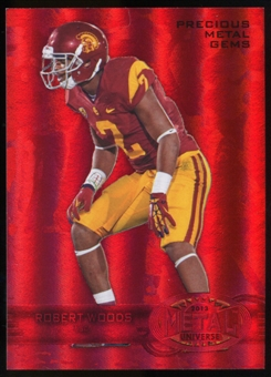 2013 Upper Deck Fleer Retro Metal Universe Precious Metal Gems Red #M129 Robert Woods /100