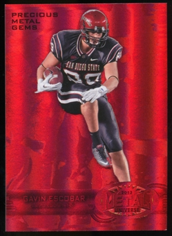 2013 Upper Deck Fleer Retro Metal Universe Precious Metal Gems Red #M149 Gavin Escobar /100