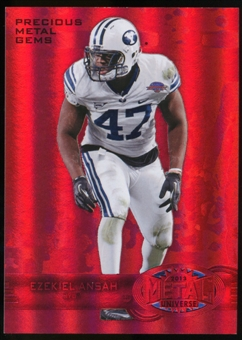 2013 Upper Deck Fleer Retro Metal Universe Precious Metal Gems Red #M150 Ezekiel Ansah /100