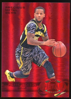 2013/14 Upper Deck Fleer Retro '97-98 Metal Universe Precious Metal Gems Red #271 Pierre Jackson /150