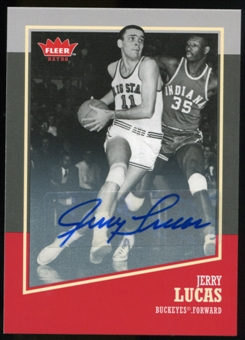 2013/14 Upper Deck Fleer Retro Autographs #24 Jerry Lucas F Autograph