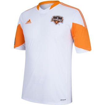Houston Dynamo Adidas ClimaCool White Replica Jersey (Adult L)