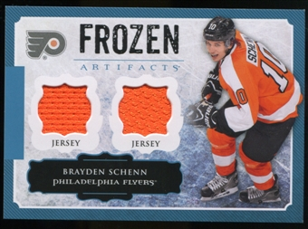 2013-14 Upper Deck Artifacts Frozen Artifacts Jerseys Blue #FABS Brayden Schenn B