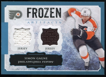 2013-14 Upper Deck Artifacts Frozen Artifacts Jerseys Blue #FAGA Simon Gagne B