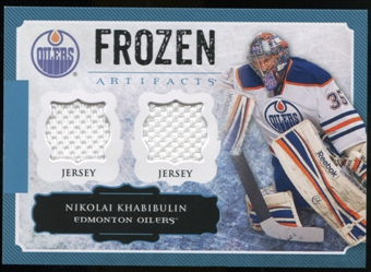 2013-14 Upper Deck Artifacts Frozen Artifacts Jerseys Blue #FANK Nikolai Khabibulin B