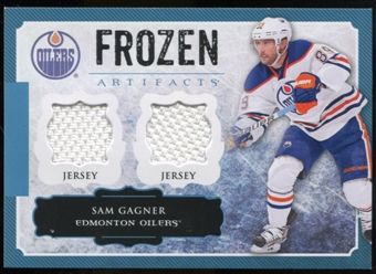 2013-14 Upper Deck Artifacts Frozen Artifacts Jerseys Blue #FASG Sam Gagner B