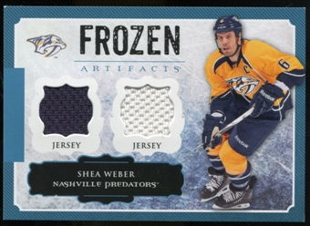 2013-14 Upper Deck Artifacts Frozen Artifacts Jerseys Blue #FASW Shea Weber B