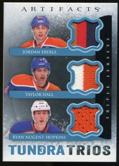 2013-14 Upper Deck Artifacts Tundra Trios Jerseys Blue #T3EHN Jordan Eberle/Taylor Hall/Ryan Nugent-Hopkins C