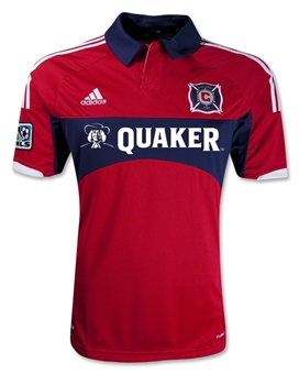 Chicago Fire Adidas ClimaCool Red Replica Jersey (Adult L)