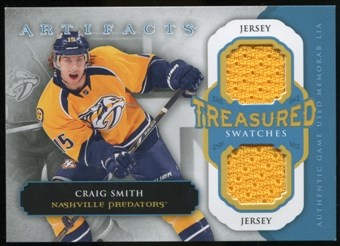 2013-14 Upper Deck Artifacts Treasured Swatches Jerseys Blue #TSCS Craig Smith B