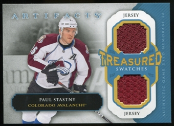2013-14 Upper Deck Artifacts Treasured Swatches Jerseys Blue #TSPS Paul Stastny B