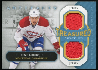 2013-14 Upper Deck Artifacts Treasured Swatches Jerseys Blue #TSRB Rene Bourque B