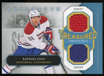 2013-14 Upper Deck Artifacts Treasured Swatches Jerseys Blue #TSRD Raphael Diaz B