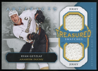 2013-14 Upper Deck Artifacts Treasured Swatches Jerseys Blue #TSRG Ryan Getzlaf B