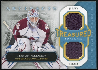 2013-14 Upper Deck Artifacts Treasured Swatches Jerseys Blue #TSSV Semyon Varlamov B
