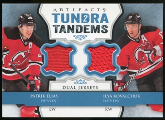 2013-14 Upper Deck Artifacts Tundra Tandems Jerseys Blue #TTEK Patrik Elias/Ilya Kovalchuk A