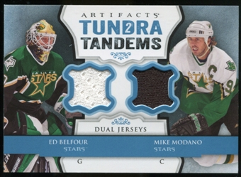 2013-14 Upper Deck Artifacts Tundra Tandems Jerseys Blue #TTBM Ed Belfour/Mike Modano B