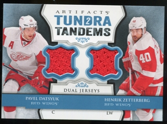 2013-14 Upper Deck Artifacts Tundra Tandems Jerseys Blue #TTDZ Pavel Datsyuk/Henrik Zetterberg B