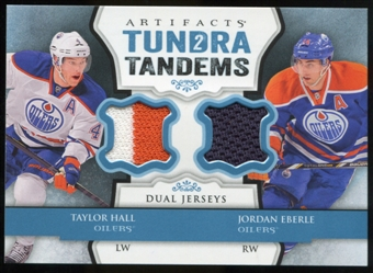 2013-14 Upper Deck Artifacts Tundra Tandems Jerseys Blue #TTEH Taylor Hall/Jordan Eberle B