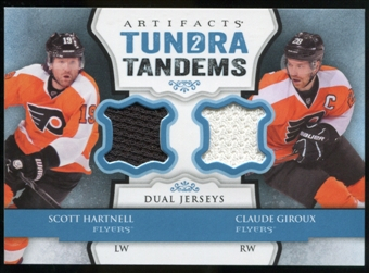 2013-14 Upper Deck Artifacts Tundra Tandems Jerseys Blue #TTHG Scott Hartnell/Claude Giroux B